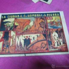 Tebeos: JULIO Y RICARDO LA CIUDAD DE LOS HOMBRES DE PIEDRA VALENCIANA 31 X 21 CM. AÑO 1945... Lote 52564781