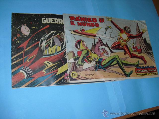 2 TEBEOS DE HAZAÑAS DE LA JUVENTUD AUDAZ,1959, BUEN ESTADO, (Tebeos y Comics - Valenciana - Otros)