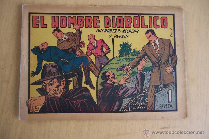 VALENCIANA, LOTE 26 Nº ROBERTO ALCÁZAR CONTRA EL HOMBRE DIABÓLICO (Tebeos y Comics - Valenciana - Roberto Alcázar y Pedrín)