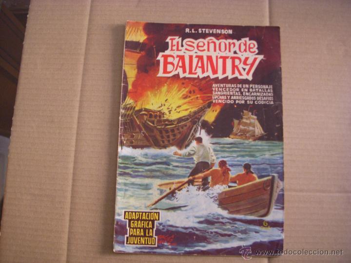 EL SEÑOR DE BALANTRY, SELECCIÓN DE AVENTURAS ILUSTRADAS, AÑO 1960, EDITORIAL VALENCIANA (Tebeos y Comics - Valenciana - Selección Aventurera)