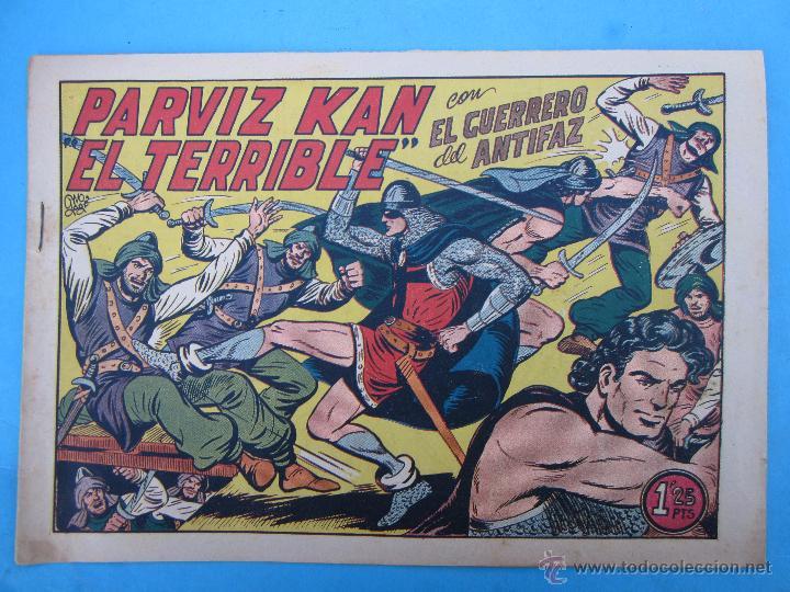 EL GUERRERO DEL ANTIFAZ , NUMERO 206 PARVIZ KAN EL TERRIBLE - VALENCIANA - ORIGINAL (Tebeos y Comics - Valenciana - Guerrero del Antifaz)