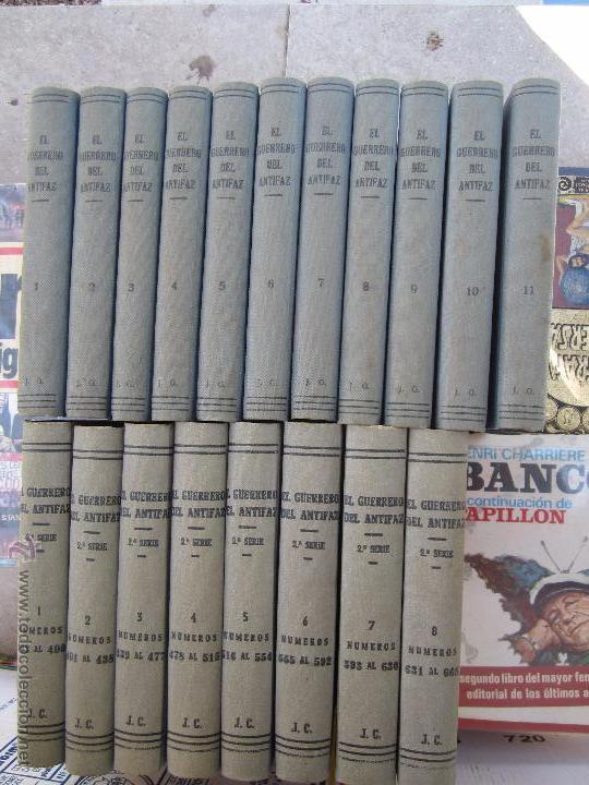 EL GUERRERO DEL ANTIFAZ COMPLETA , ENCUADERNADA EN 19 TOMOS , ORIGINAL , VALENCIANA (Tebeos y Comics - Valenciana - Guerrero del Antifaz)