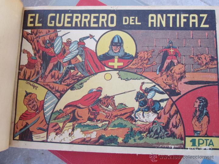 Tebeos: el guerrero del antifaz completa , encuadernada en 19 tomos , original , valenciana - Foto 13 - 53953620