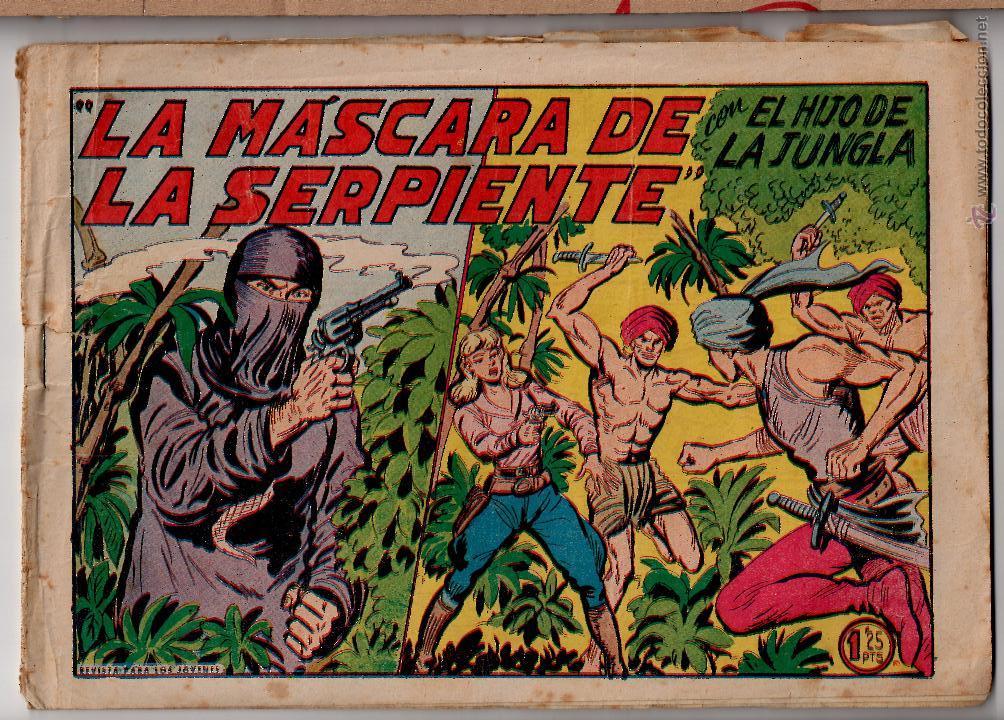 ED.VALENCIANA. EL HIJO DE LA JUNGLA. Nº 21 (ORIGINAL) VALENCIA 1956 (Tebeos y Comics - Valenciana - Hijo de la Jungla)