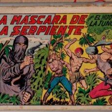 Tebeos: ED.VALENCIANA. EL HIJO DE LA JUNGLA. Nº 21 (ORIGINAL) VALENCIA 1956. Lote 54026128