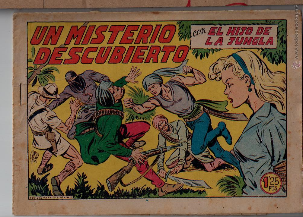 ED.VALENCIANA. EL HIJO DE LA JUNGLA. Nº 22 (ORIGINAL) VALENCIA 1956 (Tebeos y Comics - Valenciana - Hijo de la Jungla)