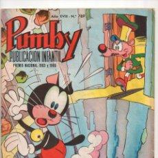 Tebeos: ED.VALENCIANA. PUMBY, J.SANCHIS. Nº 789 (ORIGINAL) 1955-1984. Lote 54071848