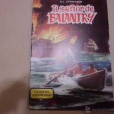 Tebeos: CLASICOS ILUSTRADOS Nº 5 EL SEÑOR DE BALANTRY VALENCIANA. Lote 54151112