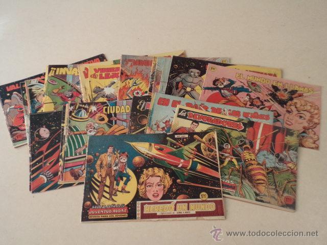 HAZAÑAS DE LA JUVENTUD AUDAZ - 44 NÚMEROS - COLECCIÓN COMPLETA Y EN BUEN ESTADO (Tebeos y Comics - Valenciana - Otros)
