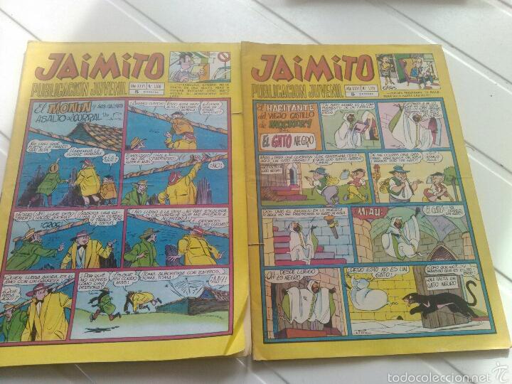 2 TEBEO-COMICS JAIMITO N'1108-1115 AÑO 1971 (Tebeos y Comics - Valenciana - Jaimito)