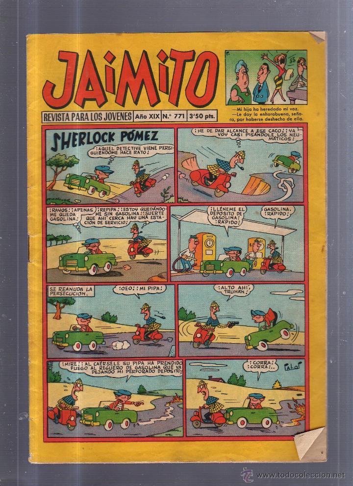 JAIMITO. REVISTA PARA LOS JOVENES. AÑO XIX. Nº 771. SHERLOCK POMEZ (Tebeos y Comics - Valenciana - Jaimito)