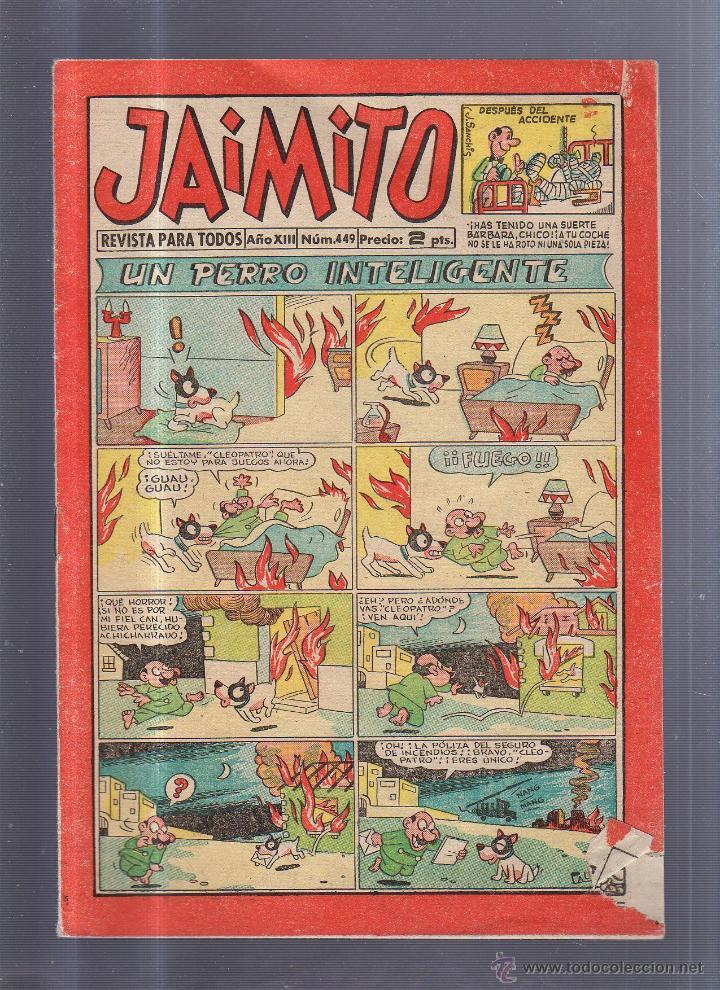 TEBEO JAIMITO. REVISTA PARA TODOS. AÑO XIII. Nº 449. UN PERRO INTELIGENTE (Tebeos y Comics - Valenciana - Jaimito)