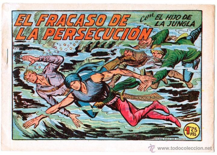 Tebeos: EL HIJO DE LA JUNGLA ORIGINAL EDI. VALENCIANA LOTE DE 21 NºS, VER IMAGENES - Foto 7 - 54698310