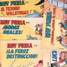 Tebeos: REY FURIA ORIGINALES EDI. VALENCIANA 1961 -NºS -2-5-6-7-8-9, DIBUJO JOSE GRAU -5 NºS SIN ABRIR, VER. Lote 54758868