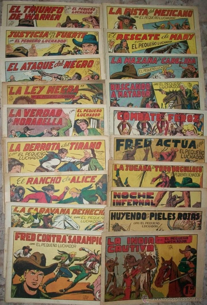 EL PEQUEÑO LUCHADOR (VALENCIANA) GRANDES (LOTE DE 19 NUMEROS DIFERENTES) (Tebeos y Comics - Valenciana - Pequeño Luchador)