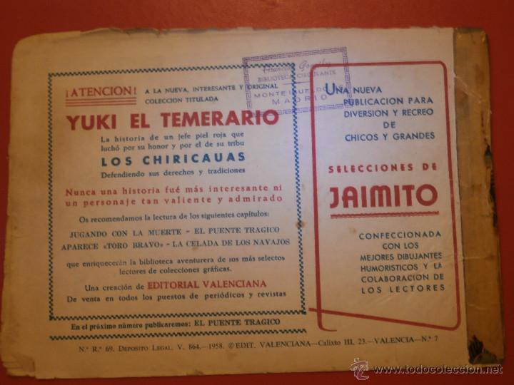 Tebeos: Comic - Yuki el Temerario - Nº 007 Jugando con la Muerte - Valenciana - Original - Años 50 - - Foto 2 - 55029382