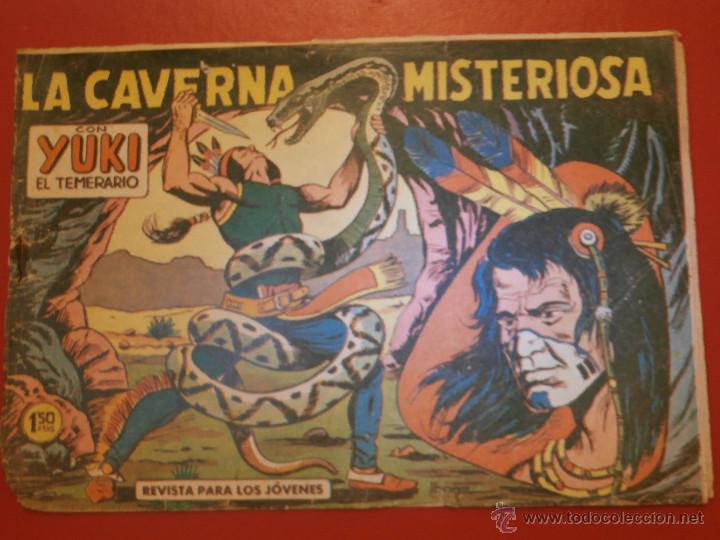 COMIC - YUKI EL TEMERARIO - Nº 050 LA CAVERNA MISTERIOSA - VALENCIANA - ORIGINAL - (Tebeos y Comics - Valenciana - Otros)