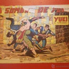 Tebeos: COMIC - YUKI EL TEMERARIO - Nº 006 LA SOMBRA DE JUKI - VALENCIANA - ORIGINAL - AÑOS 50 . Lote 55029477