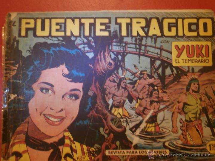COMIC - YUKI EL TEMERARIO - Nº 008 EL PUENTE TRÁGICO - VALENCIANA - ORIGINAL - 1958 (Tebeos y Comics - Valenciana - Otros)