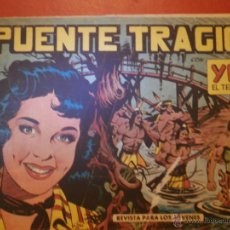 Tebeos: COMIC - YUKI EL TEMERARIO - Nº 008 EL PUENTE TRÁGICO - VALENCIANA - ORIGINAL - 1958. Lote 55029533