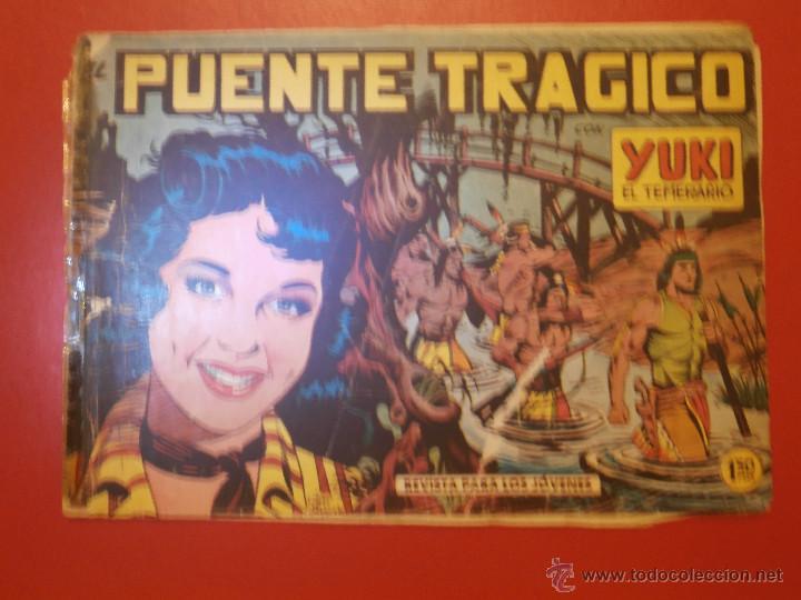 Tebeos: Comic - Yuki el Temerario - Nº 008 El puente trágico - Valenciana - Original - 1958 - Foto 2 - 55029533
