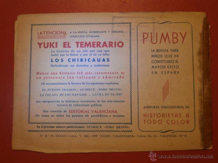 Tebeos: Comic - Yuki el Temerario - Nº 008 El puente trágico - Valenciana - Original - 1958 - Foto 3 - 55029533