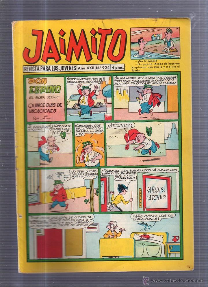 TEBEO JAIMITO. AÑO XXII. Nº 924. DON ESPINO EL BUEN VECINO (Tebeos y Comics - Valenciana - Jaimito)