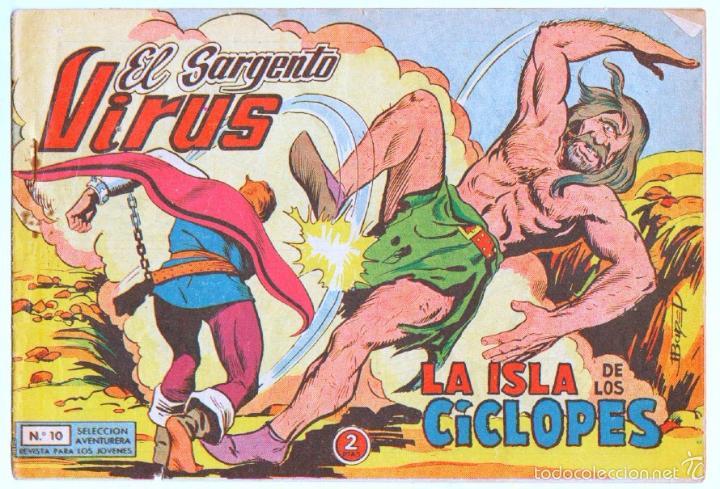 EL SARGENTO VIRUS ORIGINAL Nº 10 EDI. VALENCIANA 1962 (Tebeos y Comics - Valenciana - Otros)