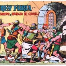 Tebeos: REY FURIA ORIGIANAL Nº 2 HOJAS SIN ABRIR EN UN SOLO PLIEGO - 1961 VALENCIANA. Lote 55297251