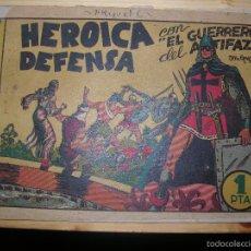 Tebeos: EL GUERRERO DEL ANTIFAZ HEROICA DEFENSA Nº7 ORIGINAL DE LA EPOCA 1 PTA. Lote 55911625
