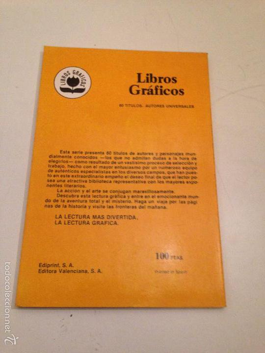 Tebeos: LIBROS GRAFICOS Nº 2. LA MAQUINA DEL TIEMPO H G WELLS. EDIPRINT VALENCIANA 1982. ALEX NIÑO - Foto 2 - 56011043