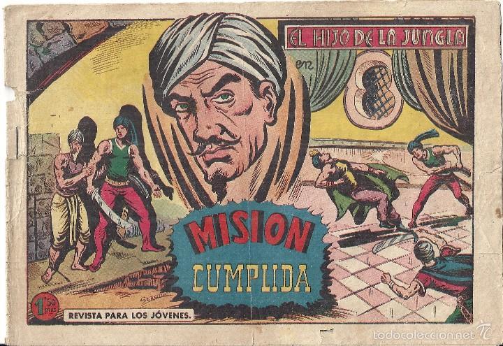 HIJO DE LA JUNGLA, EL. Nº 61. MISIÓN CUMPLIDA. EDITORIAL VALENCIANA. SERCHIO. ORIGINAL 1.958 (Tebeos y Comics - Valenciana - Hijo de la Jungla)