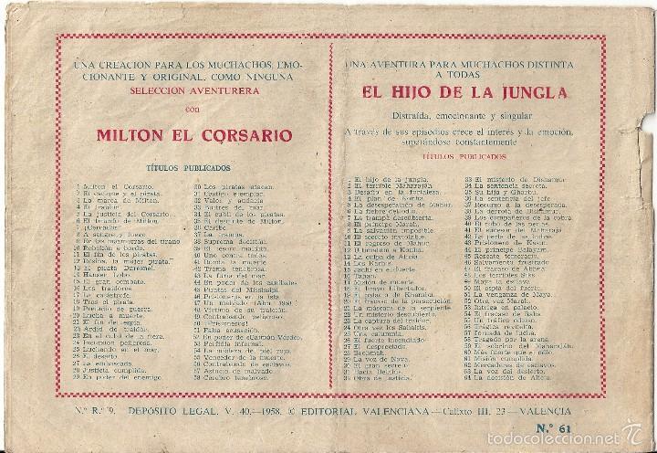 Tebeos: HIJO DE LA JUNGLA, EL. Nº 61. Misión cumplida. Editorial Valenciana. Serchio. Original 1.958 - Foto 2 - 56034249