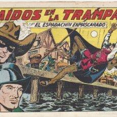 Tebeos: ESPADACHÍN ENMASCARADO, EL Nº 160. CAÍDOS EN LA TRAMPA. MANUEL GAGO. EDITORIAL VALENCIANA, ORIGINAL. Lote 56046156