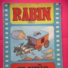 Tebeos: RABIN, EL NIÑO PERDIDO, CINE - CUENTO EN TECNICOLOR, 12 PTAS, ED. VALENCIANA, AÑO 1962. Lote 56281733