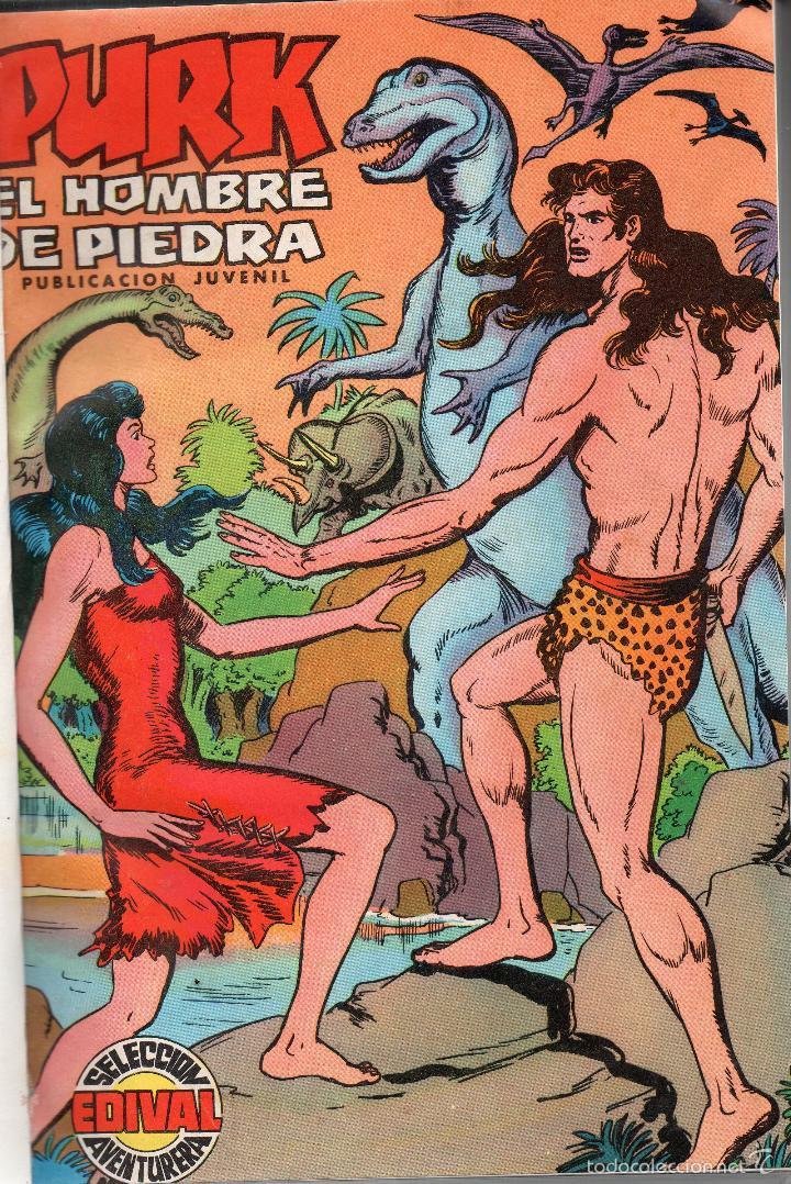 Tebeos: PURK EL HOMBRE DE PIEDRA 76 NUMEROS+ ALMANAQUE 1976+AXTRA VACACIONES Y EXTRA NAVIDAD COMPLETA EDIVAI - Foto 2 - 56308201
