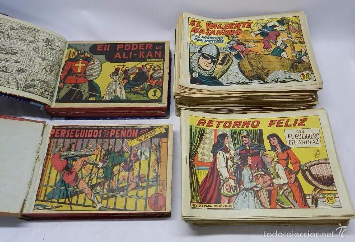 COLECCION DE 362 GUERRERO DEL ANTIFAZ, DEL N.1 AL 110 ENCUADERNADO EN DOS TOMOS Y DEL 111 AL 362 SUE (Tebeos y Comics - Valenciana - Guerrero del Antifaz)