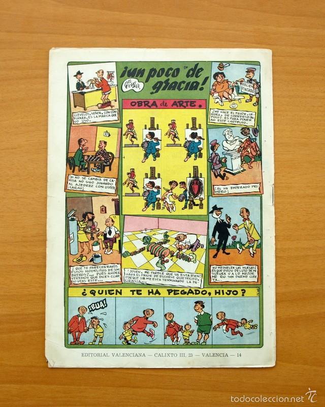 Tebeos: El temerario, nº 14 - Editorial Valenciana 1950 - Foto 3 - 56817816