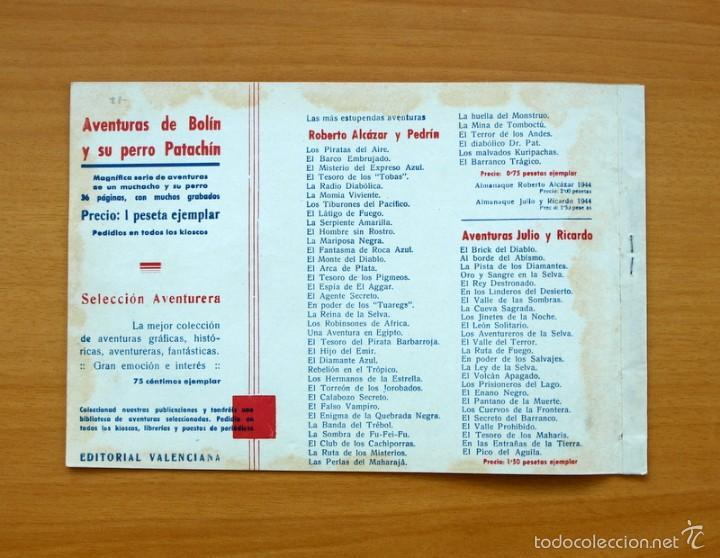 Tebeos: Selección aventurera - Las cuatro plumas - Editorial Valenciana 1940 - Foto 3 - 56820083