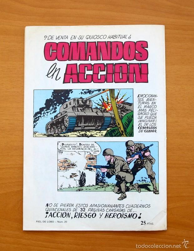 Tebeos: Colosos del Comic -Piel de lobo, nº 20 - Editorial Valenciana 1980 - Ultimo de la colección - Foto 5 - 56892167