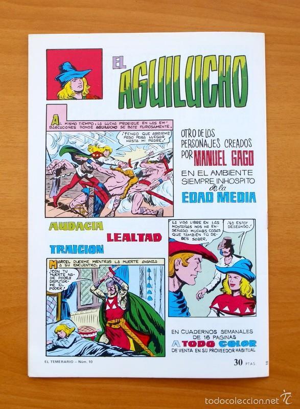 Tebeos: Colosos del Comic -El Temerario, nº 10 - Editorial Valenciana 1981 - Ultimo de la colección - Foto 5 - 56892240
