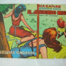 Tebeos: HAZAÑAS DE LA JUVENTUD AUDAZ, EL JUSTICIERO NEGRO Nº 8, LA CIUDAD IGNORADA ED. VALENCIANA 1965, ORIG. Lote 57010460