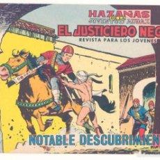 Tebeos: EL JUSTICIERO NEGRO, Nº 17, ORIGINAL . Lote 57033822