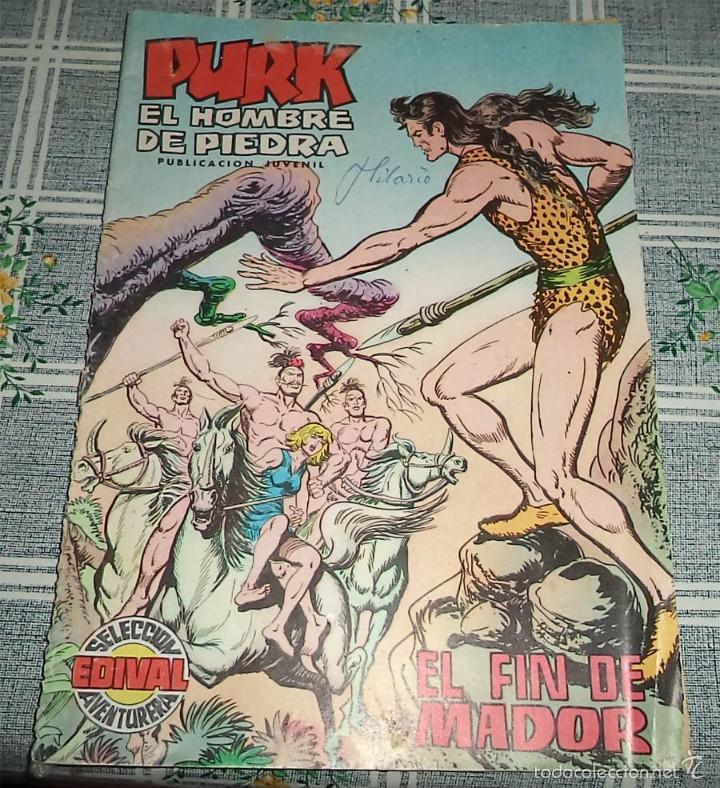 PURK EL HOMBRE DE PIEDRA N.º 90 EL FIN DE MADOR ED. VALENCIANA 1975 (Tebeos y Comics - Valenciana - Purk, el Hombre de Piedra)