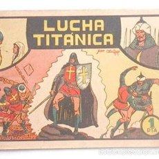Tebeos: EL GUERRERO DEL ANTIFAZ Nº 3, LUCHA TITÁNICA, ORIGINAL. Lote 57219403