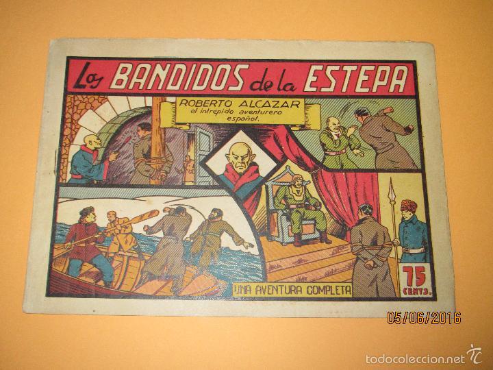 Tebeos: LOS BANDIDOS DE LA ESTEPA Nº 57 de *ROBERTO ALCAZAR Y PEDRÍN* 1ª Edición 0,75 Cents - Año 1944 - Foto 2 - 57315129