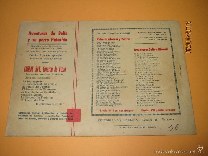 Tebeos: LOS BANDIDOS DE LA ESTEPA Nº 57 de *ROBERTO ALCAZAR Y PEDRÍN* 1ª Edición 0,75 Cents - Año 1944 - Foto 3 - 57315129