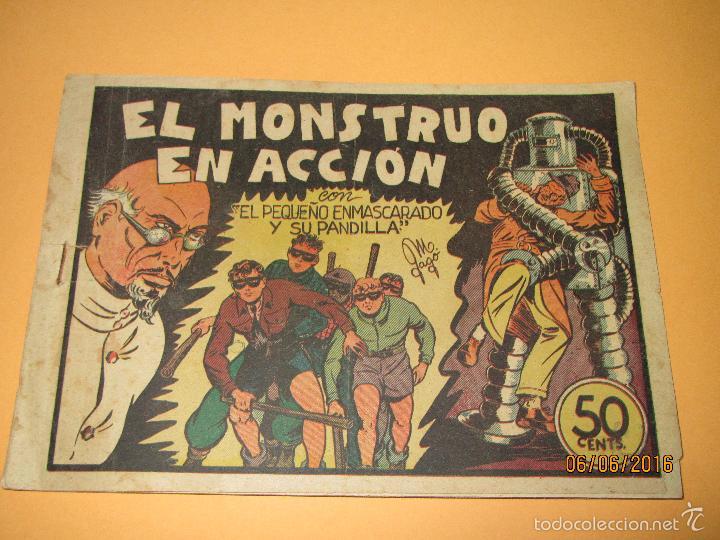 EL PEQUEÑO ENMASCARADO Y LA PANDILLA DE LOS SIETE 7 Nº 6 EDITORIAL VALENCIANA ORIGINAL - AÑO 1940S. (Tebeos y Comics - Valenciana - Otros)