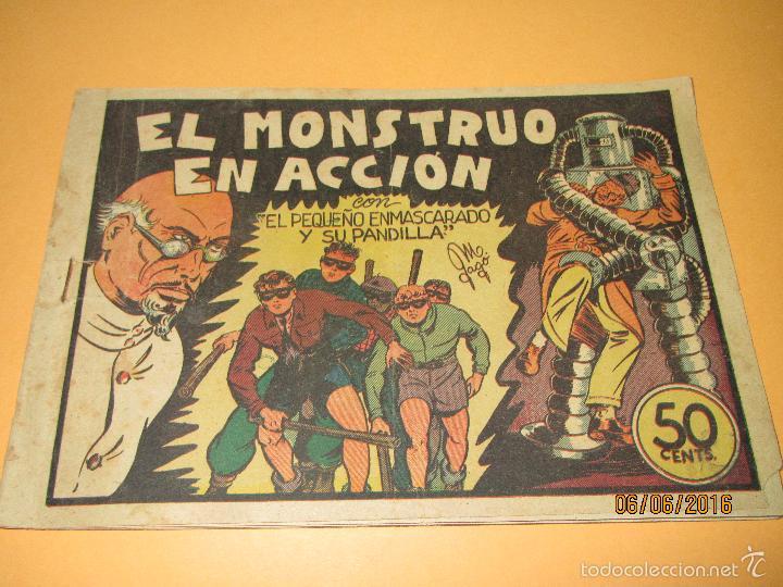 Tebeos: EL PEQUEÑO ENMASCARADO Y LA PANDILLA DE LOS SIETE 7 Nº 6 Editorial VALENCIANA Original - Año 1940s. - Foto 2 - 57353744
