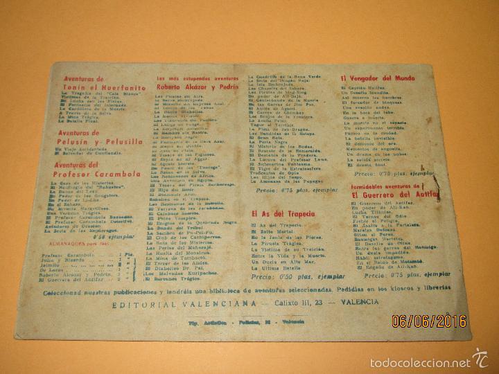 Tebeos: EL PEQUEÑO ENMASCARADO Y LA PANDILLA DE LOS SIETE 7 Nº 6 Editorial VALENCIANA Original - Año 1940s. - Foto 3 - 57353744